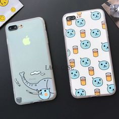 Lovely Cartoon Elephant Painted Case For iphone 6 phone cases For iphone 6S 7 7Plus 5 5S Back Cover Cute Animal image Fundas HOT