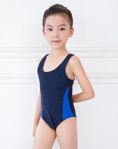 d14fe23a8e Children swimwear girls children professional Sports compete triangle one-piece  swimsuit acceptable acceptable LOGO Girls