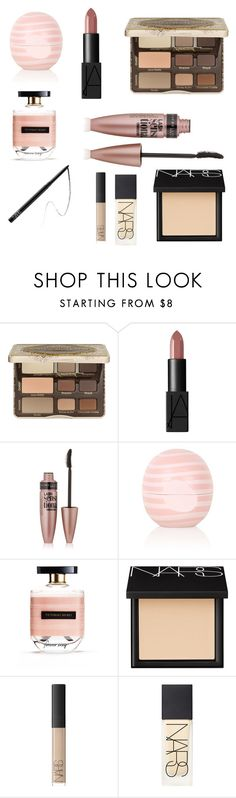 """""""Do you feel like a young god?"""" by annannn ❤ liked on Polyvore featuring beauty, Too Faced Cosmetics, NARS Cosmetics, Maybelline, Topshop, Victoria's Secret, makeup and halsey"""