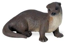 """Safari: River Otter by Safari Ltd. $5.19. All Safari Ltd. products are hand-painted, phthalate-free and thoroughly safety tested to safe guard your childs health.. Each replica comes with 5-language educational hangtag.. 3"""" L x 1.5"""" H (7.5 x 4 cm). The otter's favorite food is fish, which it catches by day. If disturbed by humans, it becomes nocturnal to avoid contact. The Wild Safari North American Wildlife series was designed for the hands of the smaller child. Each figure ..."""