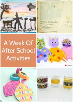 A week's worth of fun after school activities to do with your kids.