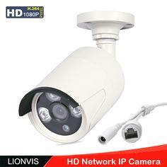 IP Camera 720P 1080P ONVIF CCTV Security Camera  Array Infrared Led Metal Housing IP66 Waterproof Outdoor Network P2P  Camera