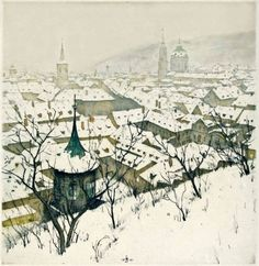 TAVÍK FRANTIŠEK ŠIMON (1877-1942) Winter Prague Zimní Praha