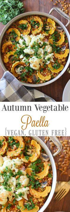 Autumn Vegetable Paella {vegan, gluten free} // pumpkinandpeanutbutter.com