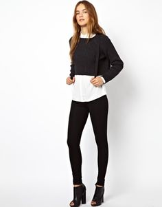 Just Female High Waisted Skinny Trousers