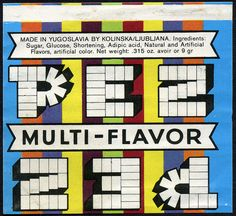 PEZ - multi-flavor candy wrapper - 1970's by JasonLiebig, via Flickr