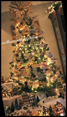 Christmas Village Display, Christmas Villages, Ski Slopes, Colorful Christmas Tree, Love Sparkle, Village Houses, Joann Fabrics, Over The Years, Light Up
