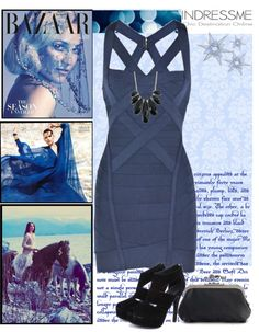 """""""Blue christmas with Indressme"""" by korvapuusti ❤ liked on Polyvore"""