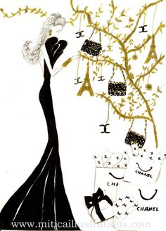 Image detail for -Vanessa Datorre Illustrations. Chanel December | Vanessa Datorre en ...