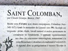 Luxeuil-les-Bains: Spiegazione di San Colombano ( © JE ) - France-Voyage.com
