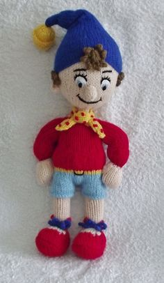 Noddy, a friend for Big Ears. Alan Dart pattern.