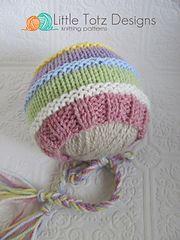 Ravelry: Color Stripe Bonnet pattern by Little Totz Designs http://www.ravelry.com/patterns/library/color-stripe-bonnet