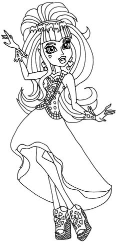 Draculaura Dance Coloring Page
