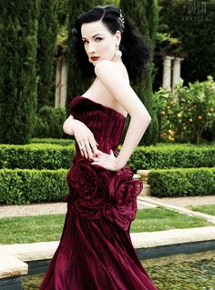 THE COLOR <3    Dita von Teese in a beautiful red dress