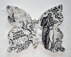 Dreams Really Do Come True  Ceramic Butterfly Wall by LuckyNola, $25.00