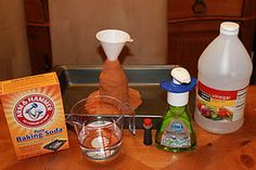 homemade volcanos. We're going to have to do this!