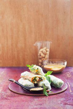 Sommerrollen mit Tofu und Gemüse | http://eatsmarter.de/rezepte/sommerrollen-mit-tofu-und-gemuese