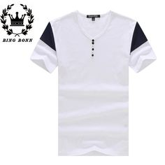 Find More T-Shirts Information about BingBonn Large Size T Shirts For Men S 4XL For Summer Spring Man's Tees Casual Cotton Short Sleeve  V Neck 20%Off,High Quality size bangle,China size 20 formal dress Suppliers, Cheap t-shirt style from Leisure Time. on Aliexpress.com