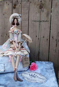 кукла тильда ручной работы купить тильда барышня зонтик винтажный стиль интерьерная кукла кукла в подарок подарок подруге