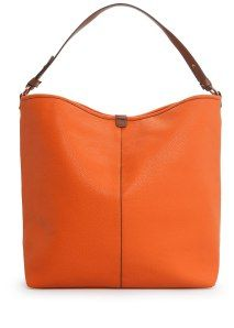 Mango Hobo Bag - Orange is all over the runways this season. This color has completely come out of nowhere and I'm glad. It's refreshing to see another color besides black and white.
