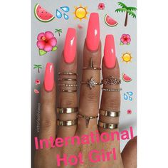 What you need to know about acrylic nails - My Nails Hot Pink Nails, Love Nails, How To Do Nails, Bright Pink Nails, Nails Ideias, Nailart Glitter, Cute Acrylic Nails, Holiday Nails, Holiday Acrylic Nails