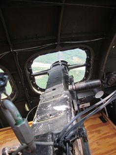 bombardier's gunner position, B-17 (© 2012 Susan Ashley Michael)
