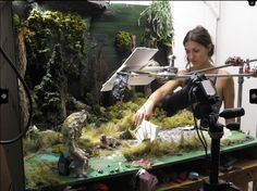 Allison Schulnik's Stop Motion Studio Set Up