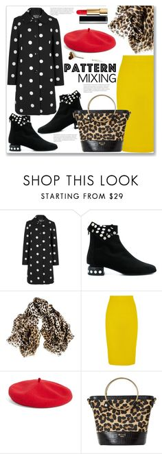 """""""Pattern Mixing"""" by queenvirgo ❤ liked on Polyvore featuring Boutique Moschino, Pierre Hardy, Black, J.Crew, Halogen, Dune and Chanel"""