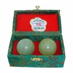 Baoding Balls Chinese Health Exercise Stress Balls - JADE