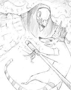 Boceto 05 - Relatos indígenas Children's Book Illustration, Concept Art, Sketch, Conceptual Art