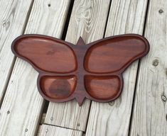 Butterfly Tray Serving Tray Wood Tray by TheCookieClutch on Etsy Cnc, Serving Tray Wood, Wood Tray, Dremel Wood Carving, Kids Plates, Wooden Plates, Wooden Kitchen, Scroll Saw, Handmade Wooden