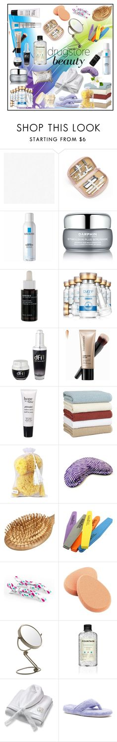 """""""DRUGSTORE BEAUTY!!!"""" by kskafida ❤ liked on Polyvore featuring beauty, Royce Leather, La Roche-Posay, Vichy, Darphin, Korres, Dfi, Bare Escentuals, philosophy and Home Decorators Collection"""