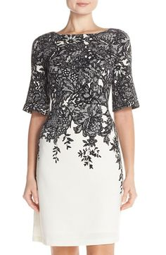 Adrianna Papell A-Line Dress available at #Nordstrom