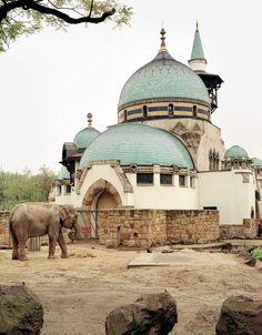 Art Nouveau building of the lucky elephants in Budapest Zoo. Douglas Friedman, Budapest Zoo u Unusual Buildings, Beautiful Buildings, Beautiful Places, Modern Buildings, Amazing Places, Wonderful Places, Places Around The World, Around The Worlds, Places To Travel