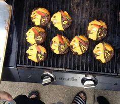 Blackhawks burgers
