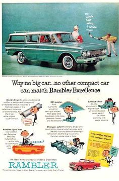 Rambler wagon.  This is exactly like the one my Dad owned in 1959/60