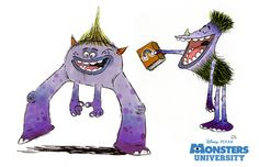 Monstres Academy - The Art of Disney Animation News, Animation Disney, Animation Studios, Walt Disney, Disney Art, Disney Pixar, Monster University, Character Development, Character Design References