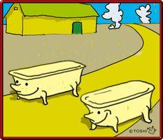 昼下がりバスタブ君は行く Bathtub Brothers by Toshisato Hagihara