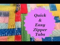 Tips'n'Tricks Tuesday   How to make Quick and easy Zipper Tabs