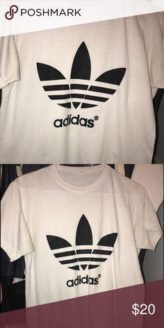 Adidas Crew neck Never worn casual Adidas crew neck tee perfect to wear with leggings and a pair of cute sneakers! Adidas Tops Tees - Short Sleeve