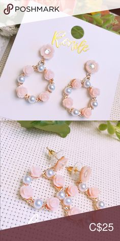 🌸 Elegant Floral Earrings 🌸 ⚠️ Same style with PAINFREE EAR CLIPS available ⚠️  · Material: Alloy, Simulated Peal Beads, Acrylic  · Needle Material: Steel  · Size:  W 1.4 cm x H 4 cm · Sold only in pairs · All pictures took from the real items. However, as the actual  colors you see will depend on your monitor, we cannot guarantee that your monitor's display of any color will be accurate Jewelry Earrings Pearl Beads, All Pictures, Monitor, Women Jewelry, Pairs, Display, Steel, Elegant, Colors