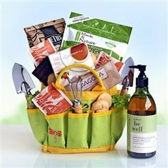 Green earthly pleasures abound in this delightful gardening tote filled with the tools of the trade, plus delicious organic sweets and snacks to boot.