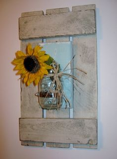 Shabby Chic Wall Sconce Distressed Wall by PineTerraceTreasures, $52.99