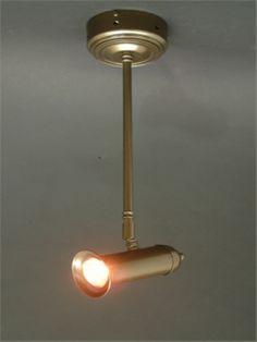 Spotlight on rod finished in antique. Lamp, Home Decor, Brighten, Lights, Light Bulb, Light, Light Up