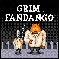 Grim Fandango - Pixel Version by ~rmda on deviantART King's Quest, Day Of The Tentacle, Eddie The Head, Lucas Arts, Monkey Island, Head Games, Blues Brothers, Lets Dance, Bioshock