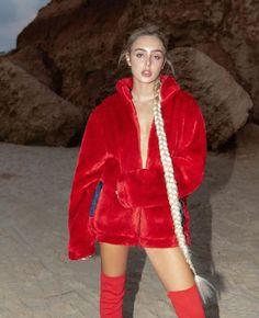 Red Leather, Leather Jacket, Fur Jackets, Fashion, Studded Leather Jacket, Moda, Leather Jackets, Fashion Styles, Fashion Illustrations