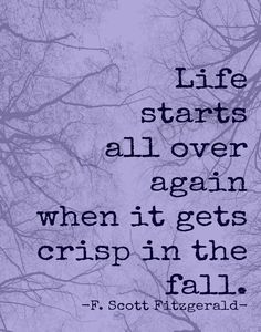 F. Scott Fitzgerald ~ knows why Fall is my favorite time of year