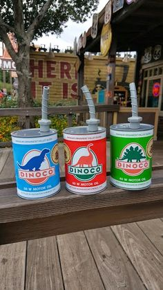 Dinoco Oil Can Sippers from Cars Land in Disney California Adventure!