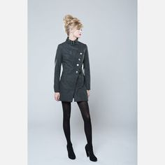 Suzabelle Muse Coat Gray now featured on Fab.