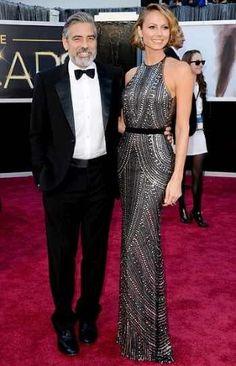 Oscars2013 GeorgeClooney StacyKeibler